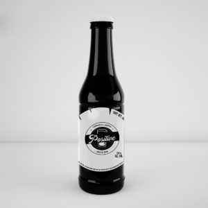 BluCactus Botella negra de cerveza con diseño de etiqueta