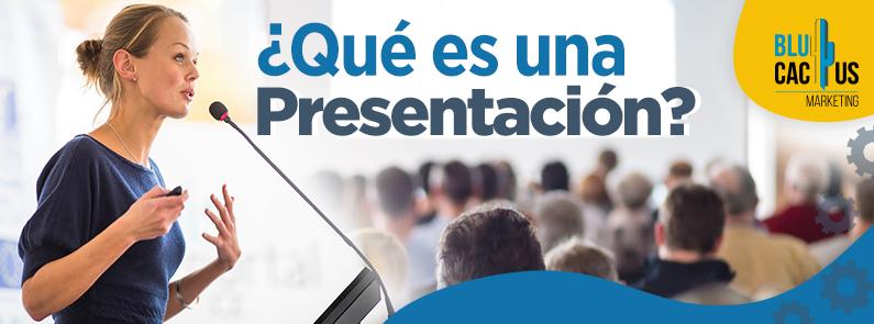 BluCactus - qué es una presentación - titulo