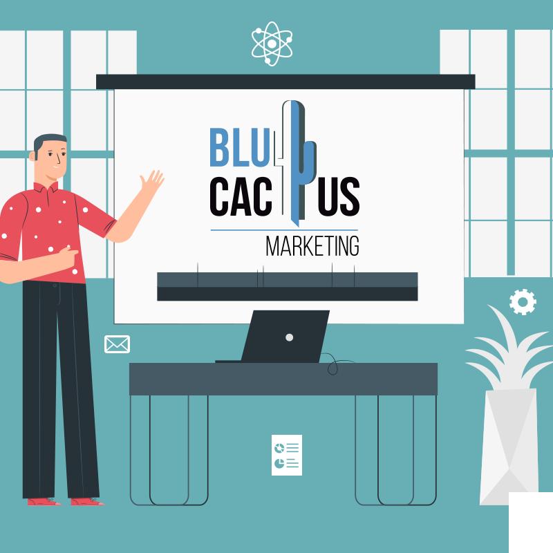 BluCactus - persona profesional dando una conferencia