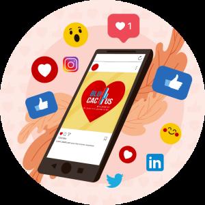 BluCactus - ¿Qué es un Community Manager? - telefono con instagram abierto de blucactus