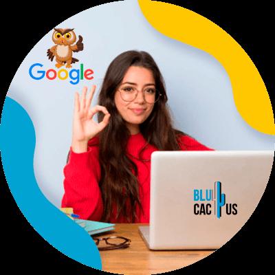 BluCactus - Algoritmos de Google - persona profesional trabajando