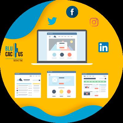 BluCactus - qué es una landing page - botones para redes sociales
