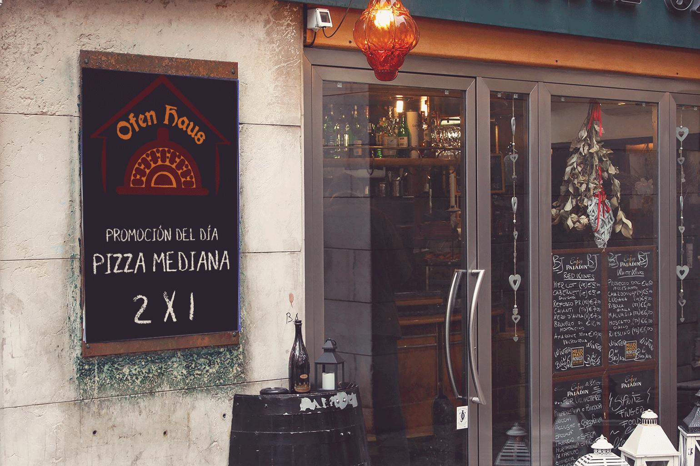 BluCactus Ofen Haus entrada para el Branding de Restaurantes