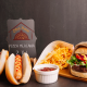 BluCactus Hot Dog & Hamburguesa con papas fritas de Ofen Haus para el branding de restaurantes