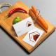 BluCactus Ofen Haus Tabla para cortar con verduras y tarjetas de presentación para el Branding de Restaurantes