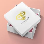 BluCactus Joyas Jaquie cajita de anillo con logotipo