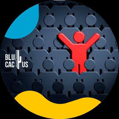 BluCactus -personas y una en rojo
