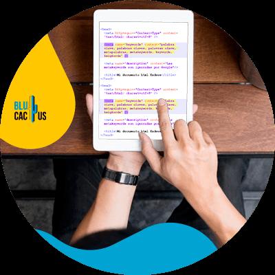 BluCactus - Seo On Page - tablet con informacion importante