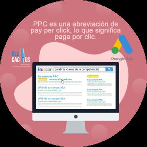 Blucactus-Explicando-las-variables-para-conocer-cuánto-cuesta-una-campaña-de-Google-Adwords- computadora con google