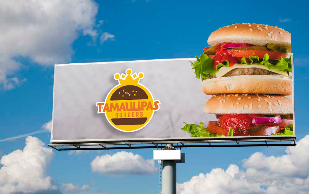 BluCactus - Cuánto cuesta rentar un panorámico - un panorámico con anuncio de Tamaulipas Burgers