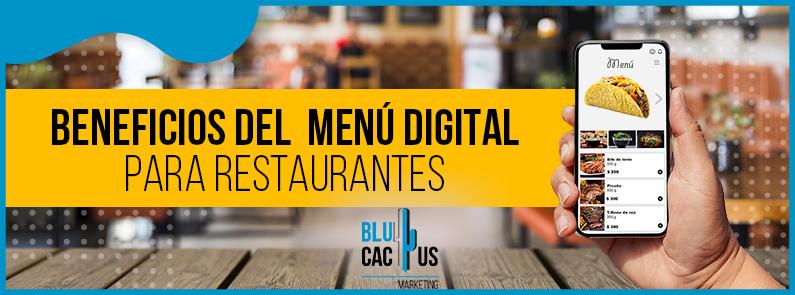 BluCactus - 11 Beneficios del Menú Digital para Restaurantes - titulo