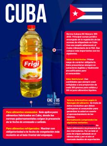 BluCactus - Normas de Etiquetado de Productos en Hispanoamérica - infografia de Cuba