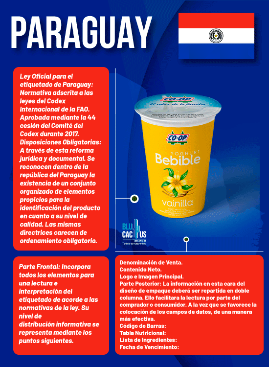 BluCactus - Normas de Etiquetado de Productos en Hispanoamérica - paraguay