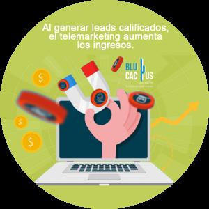 BluCactus / Telemarketing para aumentar los ingresos / mano