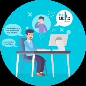 BluCactus - Telemarketing para aumentar los ingresos - persona sentada