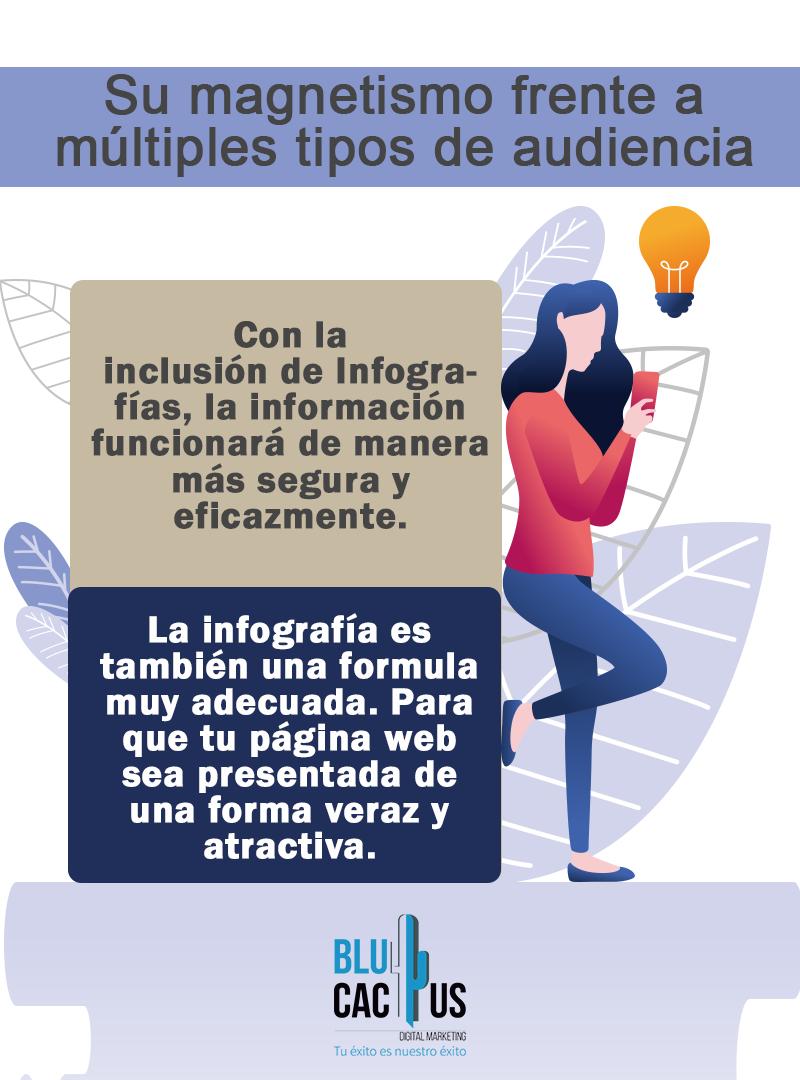 Blucactus - Diseño de Infografías - hombre con un pizarrón
