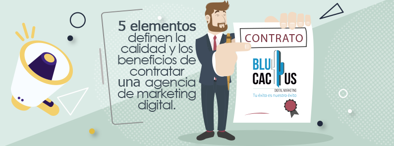 BluCactus / 5 beneficios de contratar marketing digital / portada