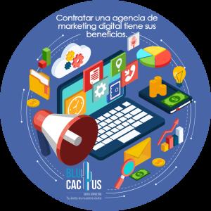 BluCactus / 5 beneficios de contratar marketing digital / computadora