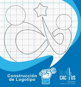 Blucactus - ejemplo de una Construcción de Logotipo en forma de dos personas y una estrella