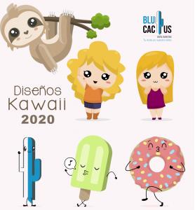 Blucactus - Influencia en la cultura pop contemporánea con diferentes diseños kawaii