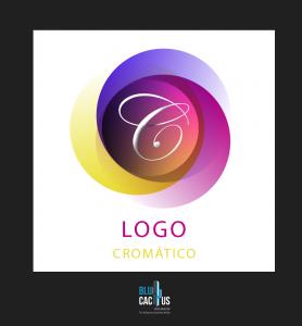 Blucactus - ejemplo de Las apuestas cromáticas en un logotipo