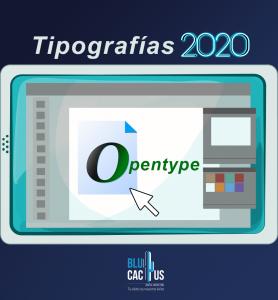 BluCactus - las nuevas tipografías del 2020 - imagen de una tablet con un programa de diseño abierto