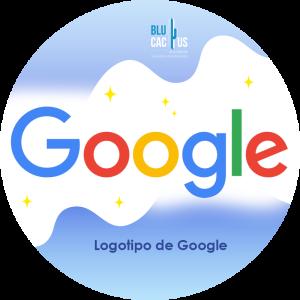 Blucactus-Qué es un logotipo- logo de google con fondo celeste