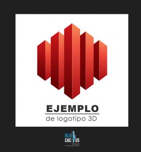 Blucactus - Variantes para logotipos 3d de color rojo
