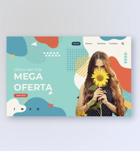 BluCactus - tendencias del diseño gráfico en 2020 - Mujer con un girasol con el efecto desarrollo de técnicas de contraste - mujer sosteniendo un girasol con la técnica de diseño web 3D