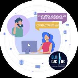 BluCactus - ¿Qué es un Folleto eficiente y de impacto? - personas hablando por computadora con el contactame