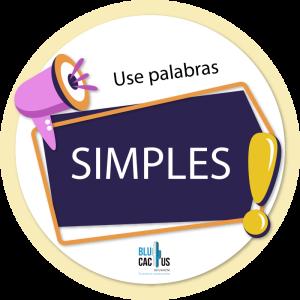 BluCactus - ¿Qué es un Folleto eficiente y de impacto? - samples en un cuadro modado con un megafono rosa y un signo de exclamación amarillo