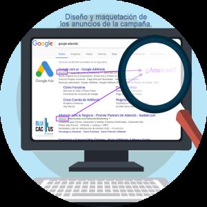 BluCactus - Estrategia efectiva con Google AdWords- Computadora con google ads abierta