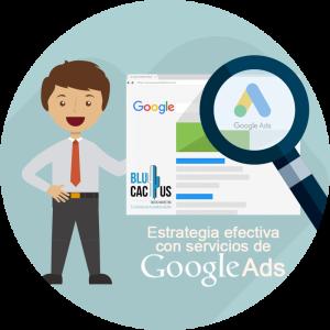 BluCactus - Estrategia efectiva con Google AdWords - hombre con traje animado