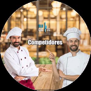 BluCactus - chefs de comida con gorros blancos