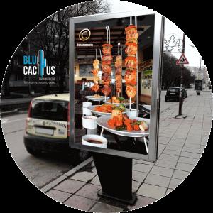 BluCactus - Marketing para restaurantes - mopi con publicidad de restaurantes