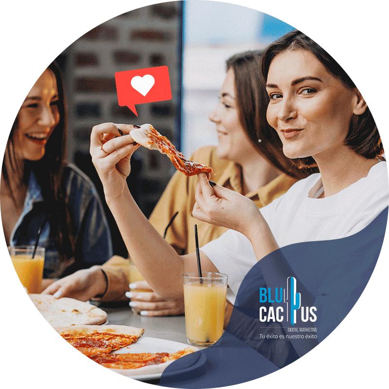 BluCactus - Marketing para restaurantes - mujeres comiendo un desayuno con jugo de naranja