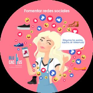 BluCactus - ¿Cómo posicionar tu Marca de Zapatos? - mujer rubia con redes sociales