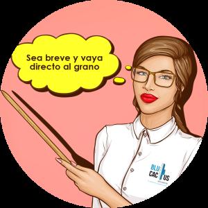 BluCactus - ¿Qué es un Folleto eficiente y de impacto? - Mujer explicando con fondo rosa y nube color amarillo