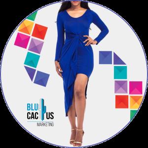 BluCactus - Tendencias de Moda para el 2020 - vestido color azul rey