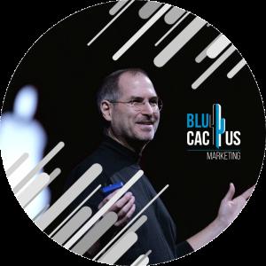 BluCactus - diseños de presentación - steve jobs con fondo negro