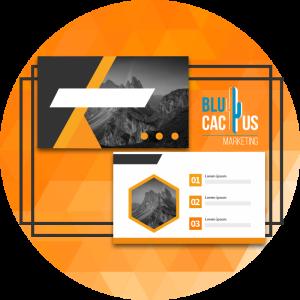 BluCactus - diseños de presentación - presentaciones de powerpoint con mascaras color naranja