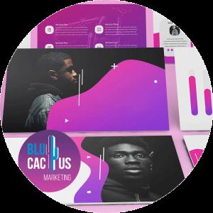 BluCactus - diseños de presentación - gradiente de color morado