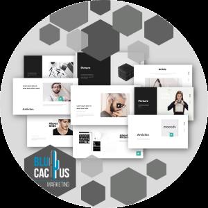 BluCactus - diseños de presentación - presetaciones con color gris