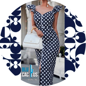 BluCactus - jumpsuit de polka dots color azul marino