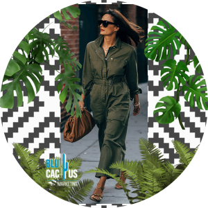 BluCactus - jumpsuit color verde militar con bolsa color cafe