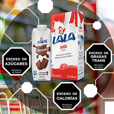 BluCactus - Norma 051 para Etiquetado - ejempl animado de norma 051 con la marca leche lala