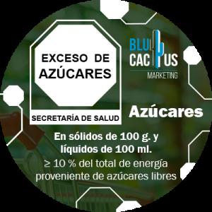 BluCactus - Norma 051 para Etiquetado - Infografia de Norma 051 de alimentos méxico - exceso de azucares