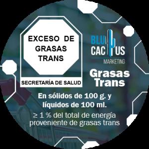 BluCactus - ejemplo animado de etiqueta de grasas trans