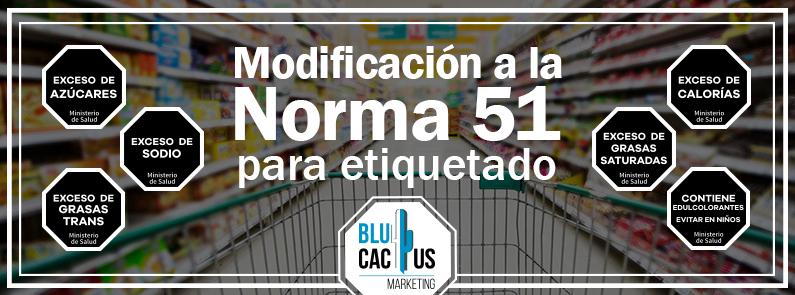 BluCactus - Norma 051 para Etiquetado - titulo