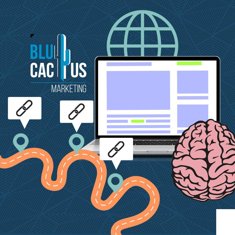 BluCactus-Que-es-el-posicionamiento-SEO - computadora con un cerebro animado a lado